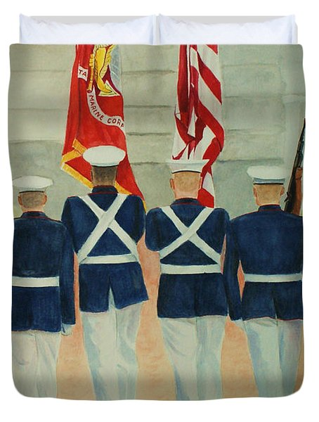 Color Guard Duvet Cover