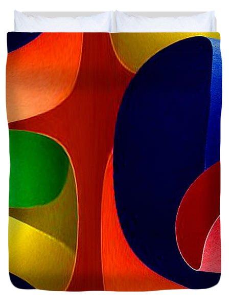 Duvet Cover featuring the digital art Color Maze by Rafael Salazar