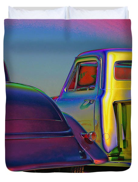Duvet Cover featuring the photograph Color Me A Hot Rod by Christopher McKenzie