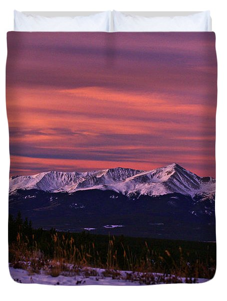 Color Of Dawn Duvet Cover