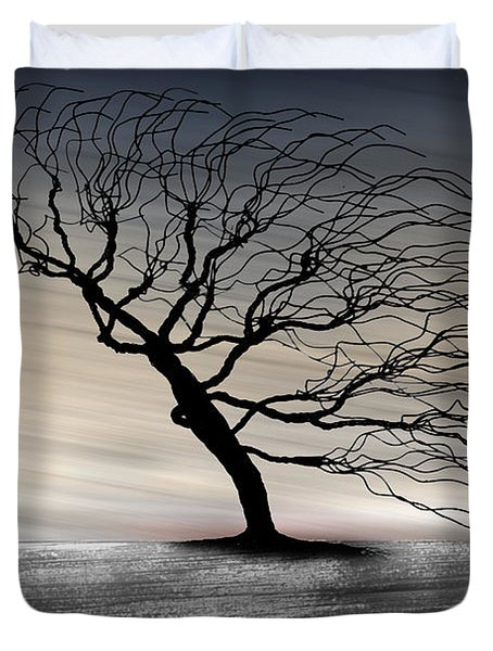 Color Of The Wind Duvet Cover by Gray  Artus