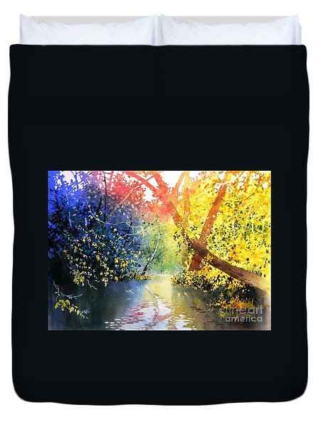 Color Of Trees Duvet Cover