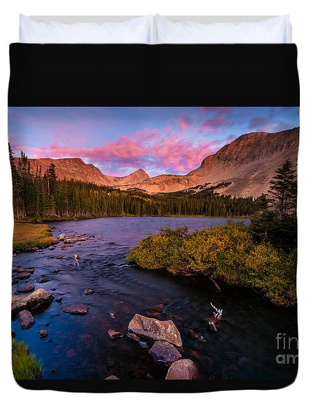 Color Over  Indian Peaks Duvet Cover
