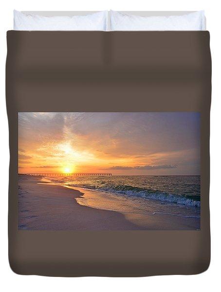 Color Palette Of God On The Beach Duvet Cover