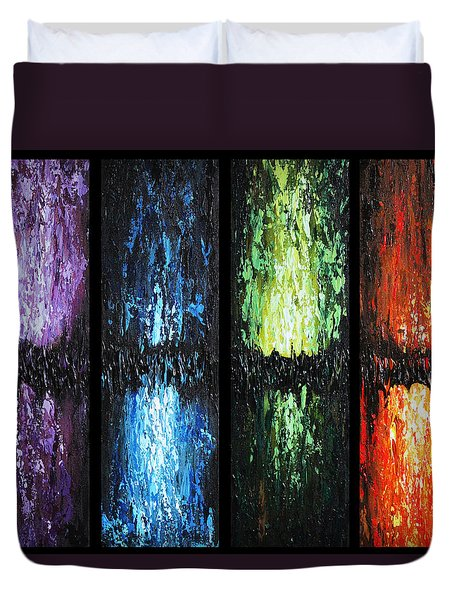 Color Panels 1 Duvet Cover by Patricia Lintner