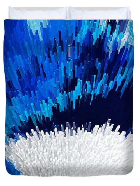 Color Shock 2 - Vibrant Digital Painting Art Duvet Cover by Sharon Cummings