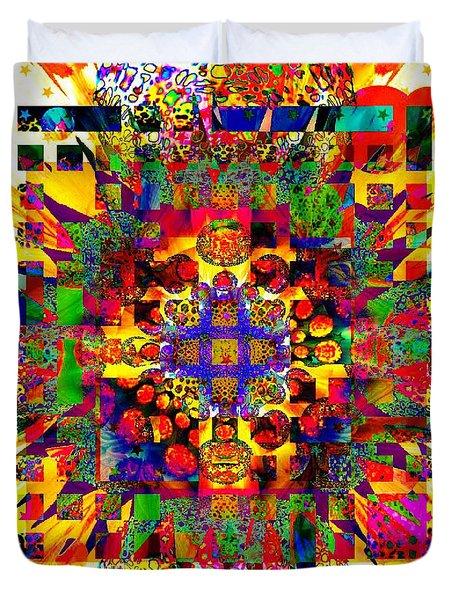 Color Splash Squared Duvet Cover