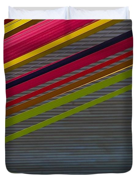 Duvet Cover featuring the photograph Color Strips by Stuart Litoff