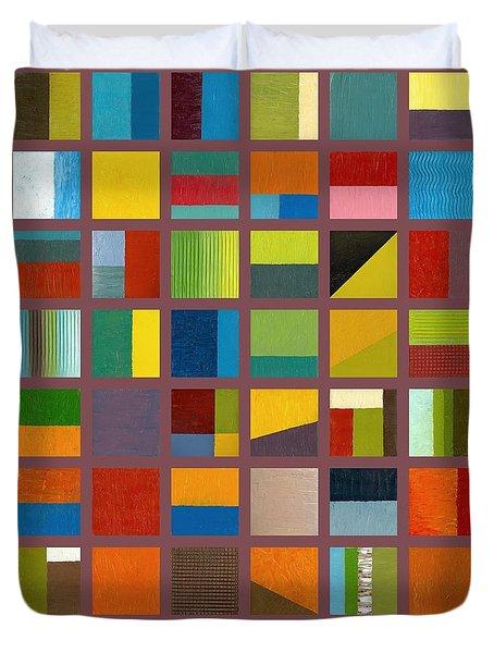Color Study Collage 65 Duvet Cover by Michelle Calkins