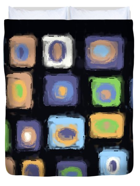 Color Study For Evening Lake Duvet Cover