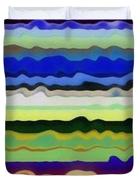 Color Waves No. 5 Duvet Cover by Michelle Calkins