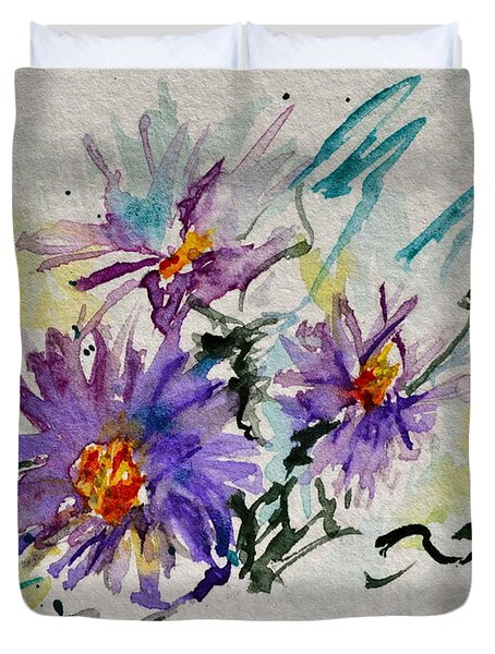 Colorado Asters Duvet Cover by Beverley Harper Tinsley