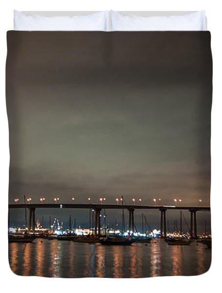 Coronado Bridge San Diego Duvet Cover