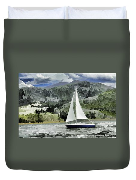 Colorado By Wind Duvet Cover