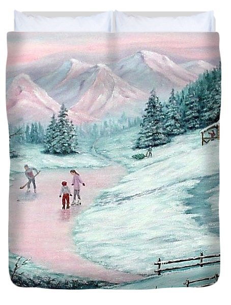 Colorado Christmas Duvet Cover