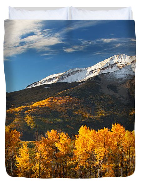 Colorado Gold Duvet Cover