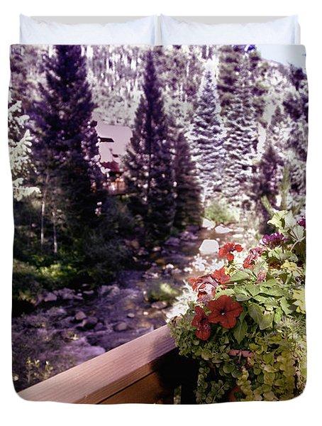 Colorado Landscape Duvet Cover by Madeline Ellis