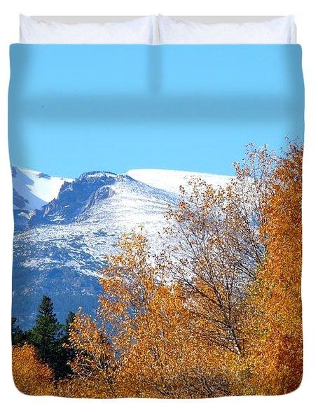 Colorado Mountains In Autumn Duvet Cover