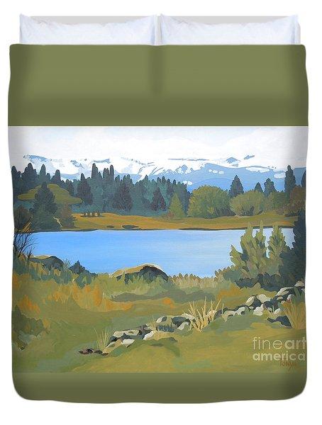 Colorado Mountains Duvet Cover
