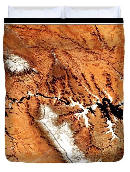 Duvet Cover featuring the photograph Colorado Plateau Nasa by Rose Santuci-Sofranko