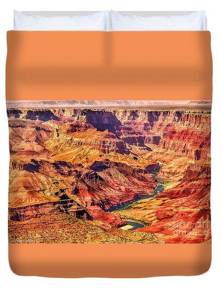 Colorado River 1 Mi Below 100 Miles To Vermillion Cliffs Utah Duvet Cover