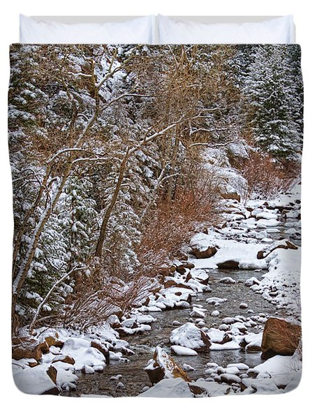 Colorado St Vrian Winter Scenic Landscape View Duvet Cover by James BO  Insogna