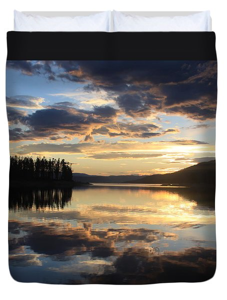 Colorado Sunset Duvet Cover by Chris Thomas