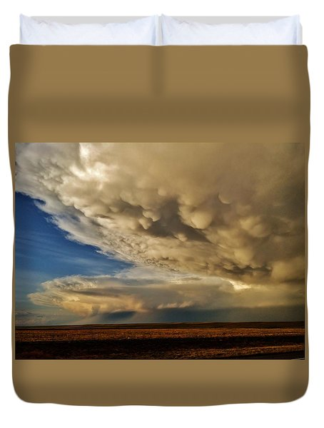 Duvet Cover featuring the photograph Colorado Supercells by Ed Sweeney