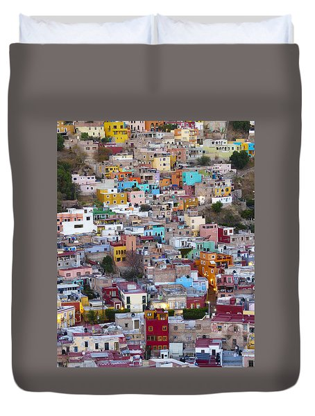 Colored Homes Duvet Cover by Douglas J Fisher