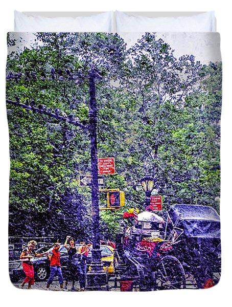 Colored Memories - Central Park Duvet Cover by Madeline Ellis