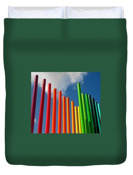 Colored Pencils  Duvet Cover