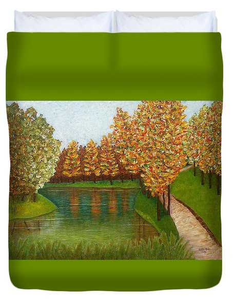 Colored Reflections Duvet Cover by Madalena Lobao-Tello