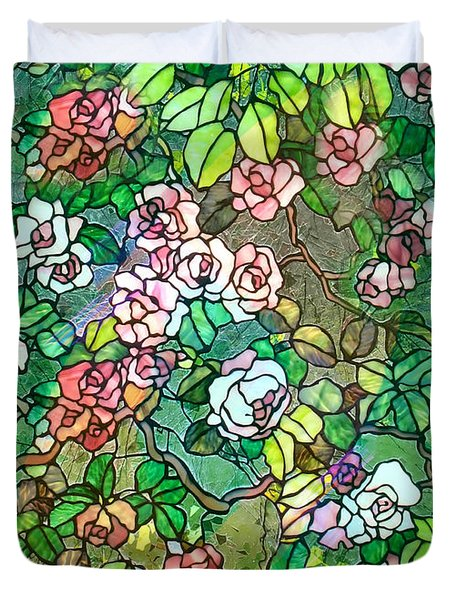 Colored Rose Garden Duvet Cover