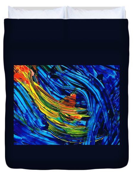 Colorful Abstract Art - Energy Flow 3 - By Sharon Cummings Duvet Cover by Sharon Cummings