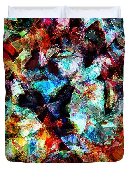 Duvet Cover featuring the digital art Colorful Abstract Design by Phil Perkins