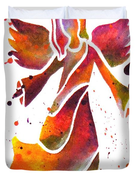 Colorful Angel Acrylic Abstract Painting By Saribelle Rodriguez Duvet Cover by Saribelle Rodriguez
