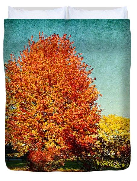 Colorful Autumn Duvet Cover