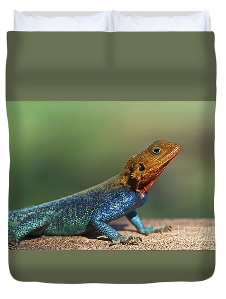 Colorful Awesomeness... Duvet Cover by Nina Stavlund