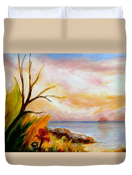 Colorful Beach  Duvet Cover