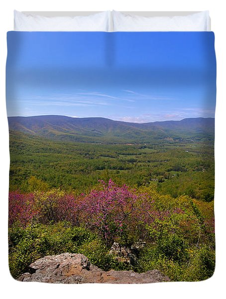 Colorful Blue Ridge Spring Duvet Cover by Rachel Cohen