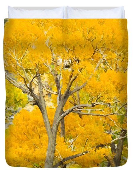 Colorful Canopy Duvet Cover
