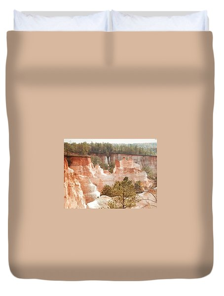 Duvet Cover featuring the photograph Colorful Georgia Canyon Wonder by Belinda Lee