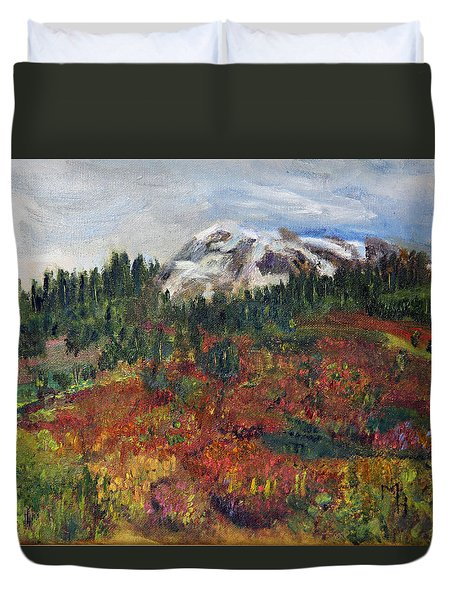Colorful Cascades Duvet Cover