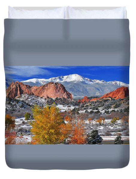 Colorful Colorado Duvet Cover by John Hoffman