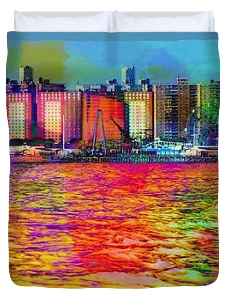 Colorful Coney Island Duvet Cover