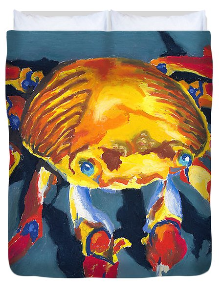 Colorful Crab Duvet Cover by Stephen Anderson