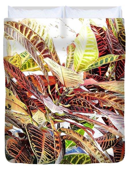 Colorful - Croton - Plant Duvet Cover