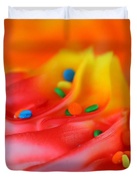 Colorful Cup Cake Duvet Cover by Darren Fisher