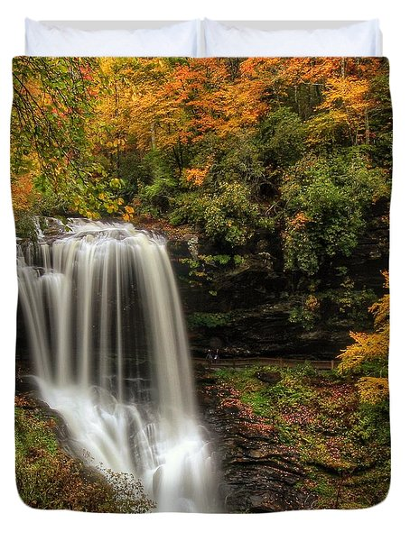 Colorful Dry Falls Duvet Cover