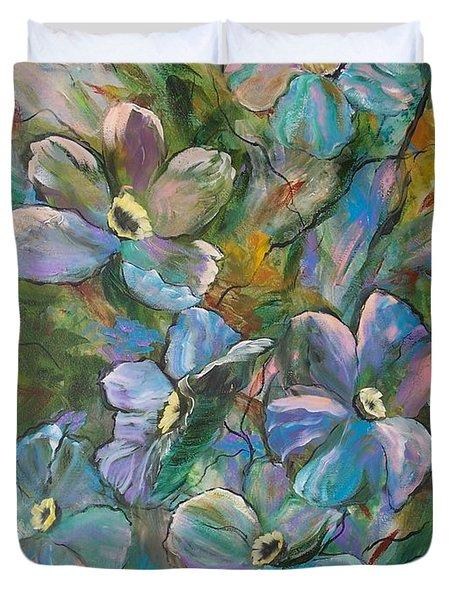 Colorful Floral Duvet Cover
